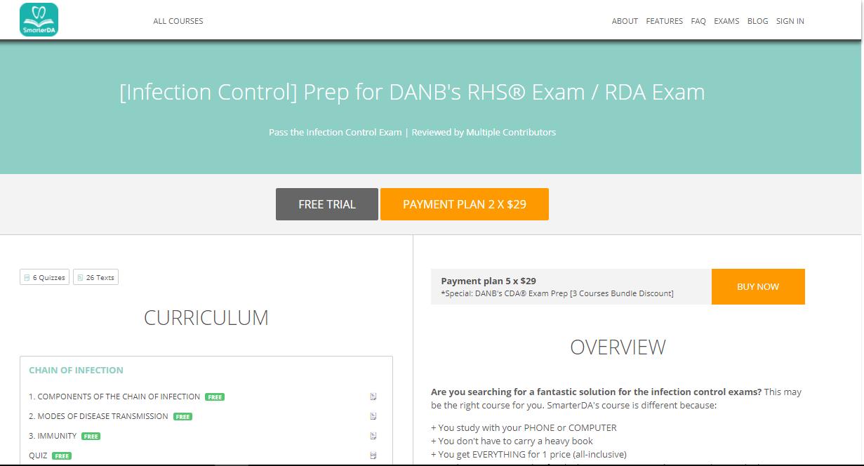 SmarterDA Dental Assisting Exam Prep Solution